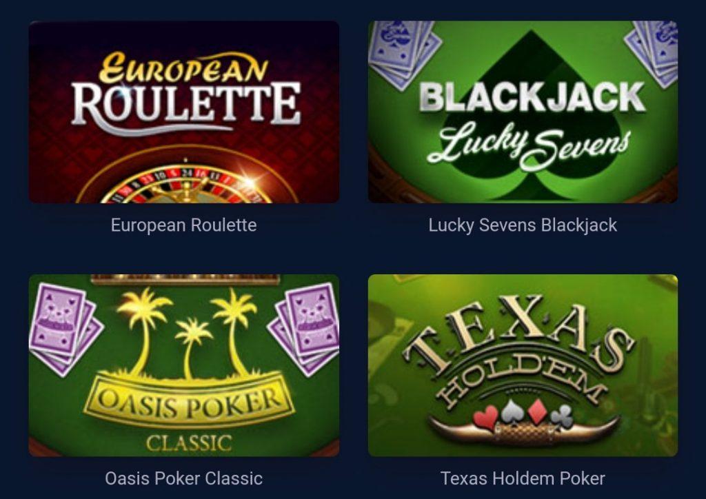 Vulkan Casino Table Games